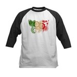 Italy Flag Kids Baseball Jersey