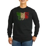 Italy Flag Long Sleeve Dark T-Shirt