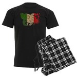 Italy Flag Men's Dark Pajamas