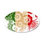 Italy Flag 38.5 x 24.5 Oval Wall Peel