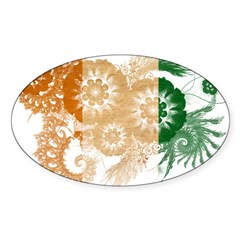 Ivory Coast Flag Sticker (Oval 10 pk)