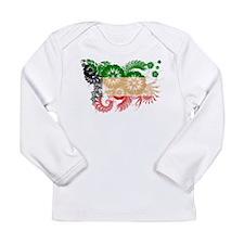 Kuwait Flag Long Sleeve Infant T-Shirt