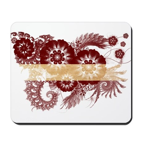 Latvia Flag Mousepad