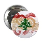 "Lebanon Flag 2.25"" Button"