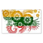 Lithuania Flag Sticker (Rectangle 10 pk)