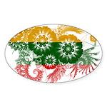 Lithuania Flag Sticker (Oval 50 pk)