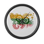 Lithuania Flag Large Wall Clock