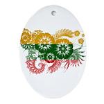Lithuania Flag Ornament (Oval)