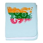 Lithuania Flag baby blanket