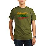 Lithuania Flag Organic Men's T-Shirt (dark)