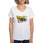 Lithuania Flag Women's V-Neck T-Shirt