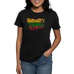 Lithuania Flag Women's Dark T-Shirt
