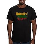 Lithuania Flag Men's Fitted T-Shirt (dark)
