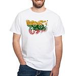 Lithuania Flag White T-Shirt