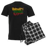 Lithuania Flag Men's Dark Pajamas