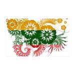 Lithuania Flag 38.5 x 24.5 Wall Peel