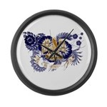 Louisiana Flag Large Wall Clock