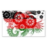 Malawi Flag Sticker (Rectangle 10 pk)