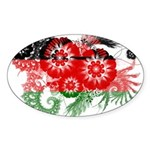 Malawi Flag Sticker (Oval)