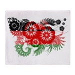 Malawi Flag Throw Blanket