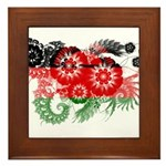 Malawi Flag Framed Tile