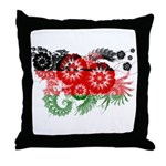 Malawi Flag Throw Pillow