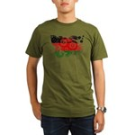 Malawi Flag Organic Men's T-Shirt (dark)