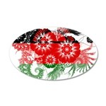 Malawi Flag 38.5 x 24.5 Oval Wall Peel