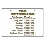 Texas Vehicle Code Banner