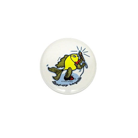 Stand-Up Fish funny comic car Mini Button (100 pac