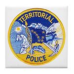 Alaska Territory Police Tile Coaster