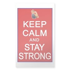 Womens Rights Keep Calm Stay Strong Decal