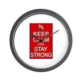 Womens Rights Keep Calm Stay Strong Wall Clock