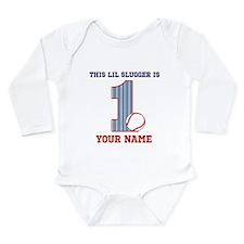 1st Birthday Baseball Long Sleeve Infant Bodysuit