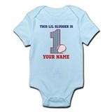 1st Birthday Baseball Onesie