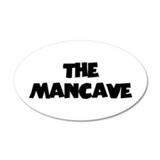 The Mancave (black) 22x14 Oval Wall Peel