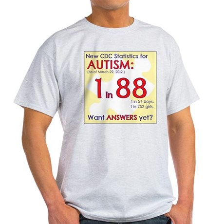 1 in 88 Want Answers v2 Light T-Shirt