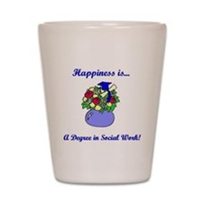 Social Work Degree Shot Glass