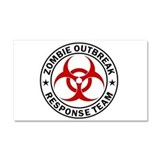 Zombie Outbreak Response Team Car Magnet 20 x 12