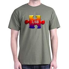 1 in 88 (Autistic) T-Shirt
