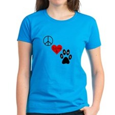 Peace Love & Paws Tee