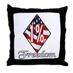 Freedom 1% Throw Pillow