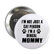 "Bengal Cat Design 2.25"" Button"