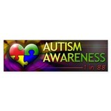 Autism Awareness - 1 in 88 - Bumper Car Sticker