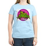 I Hop (Frog) Women's Pink T-Shirt