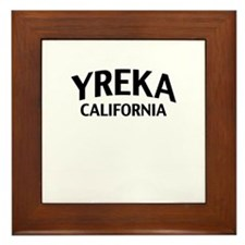 Yreka California Framed Tile