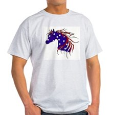 patriotic horse Ash Grey T-Shirt