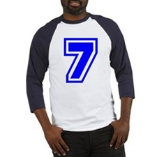 Varsity Uniform Number 7 (Blue) Baseball Jersey