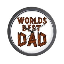 Worlds Best Dad Wall Clock