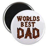 "Worlds Best Dad 2.25"" Magnet (10 pack)"